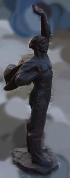 Скульптура Рабочий, материал метал, высота 125 см., ширина 50 см., длина 50 см. - 3