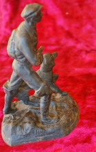Скульптура Охотник, материал чугун, высота 17 см., ширина 9 см., длина 9 см. - 2