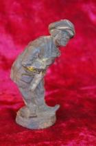 Скульптура Мужичёк, материал чугун, высота 17 см., ширина 6 см., длина 5 см. Касли - 1