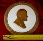Медаль Ленин, материал фарфор, ширина 12 см. - 2