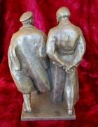 Скульптура Ленин с Дзержинским, материал метал, высота 23 см.,ширина 11 см., длина 11 см. - 3