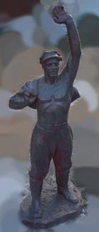 Скульптура Рабочий, материал метал, высота 125 см., ширина 50 см., длина 50 см. - 1