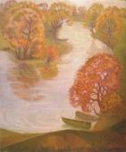 Осень. Пейзаж 120-100 холст, масло