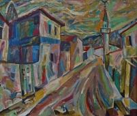Улица в Бахчисарае 75-88 холст, масло 2005г.