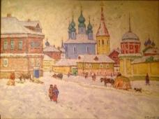 Зима 95 50-68 см. картон, масло 1985