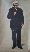 Портрет К. Маркса 120-196 см. холст масло 1968г