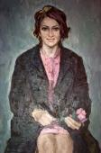Девушка в розовом 100-68 см. холст, масло 1967