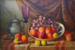 Натюрморт с фруктами 40-60 холст, масло