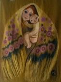 Гобелен. Бойковская мадонна, ручное ткачество, шерсть 1994