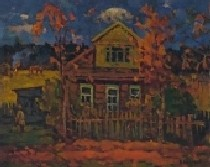 Дом художника Рябушкина 49-57 холст, масло 1977г.
