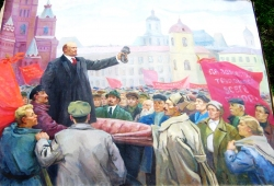 Ленин на митинге 120-160 см. холст масло 1969г.