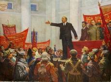 Выступление Ленина 119-159 см. холст масло 1970е
