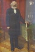 Портрет Маркса  200-140 холст, масло 1970г.