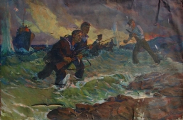 Моряки 100-150 холст, масло 1972г.