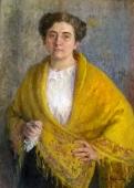 Автопортрет 1913. Холст, масло.