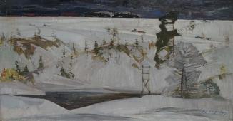Дальнии дороги 70-134 см. картон масло 1969 г.