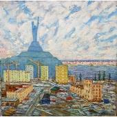 Над Днепром 120-120 холст, масло 1986г.