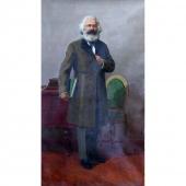 Карл Маркс 180-100 холст, масло