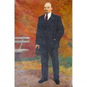 В.И.Ленин. Творческий портрет 200-130 холст, мало 1970г.