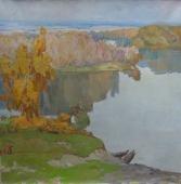 Осенняя тишина 120-120 холст, масло 1978г.