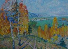 Осенние деревья 100-140 холст, масло