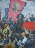 Ленинский призыв 200-144 холст, масло