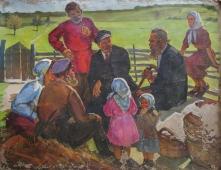 Ленин с детьми 100-130 см. холст масло 1970е