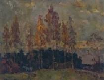 Осенние деревья 65-81 холст, масло 1983г.