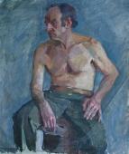 Портрет мужины  77-65 см. холст масло  1970е