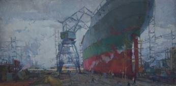В порту 70-140 холст, масло 1959г.