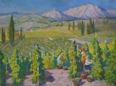 Сбор винограда 120-160 холст, масло