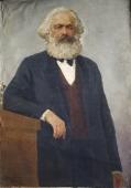 Карл Маркс на сером фоне 130-90 см. холст масло 1968г.