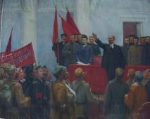 Провозглашение советской власти 160-200 холст, масло 1971г.