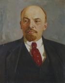 Ленин на сером фоне  70-90 см. холст масло 1976г