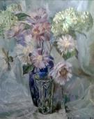 Цветы в вазе 67-65 см., холст, масло 1984