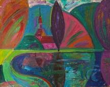 Фиолетовый пруд 38-49 холст, масло 2008г.