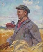 Хороший урожай хлеба 86-73 холст, масло