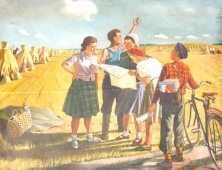 В поле 118-150 холст, масло 1965г.
