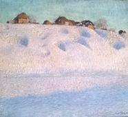 Снежные сугробы 1904. Холст, масло.
