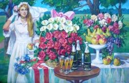 Невеста 110-170 холст, масло 1983г.