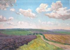 Урожай в поле дозревает  96-136 холст, масло 1965г.