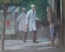 Вызов врача 75-95 холст, масло
