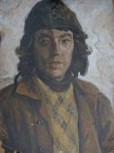 Портрет строителя  69-51см.  картон масло