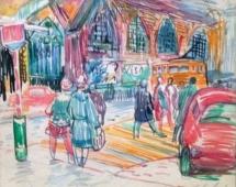 Собор Святого Николая 30-37,5 см., бумага, фломастер 1969