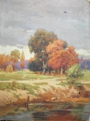 Осенний пейзаж 80-110 холст, масло 1958г.