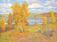 Осенний пейзаж 110-150 холст, масло