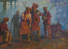 Литейщики   87-122 см. холст масло