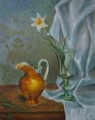 Нарцис  50-40 см. холст масло 1991г.