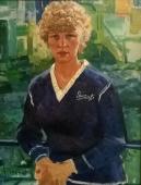 Портрет Ангелы Шуман 1983. Холст, масло
