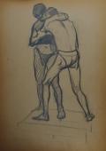Борцы 41-29 см. бумага графит